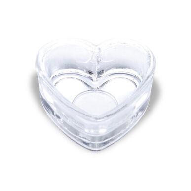 Păhărel de sticlă - inimă