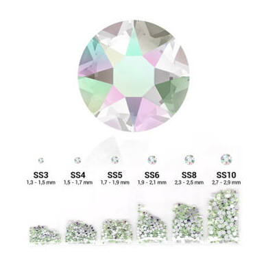 Set cristale decorative 6in1 - Crystal Aurora Boreale