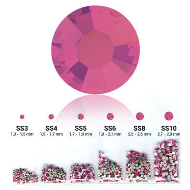 Set cristale decorative 6in1 - Rose