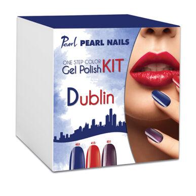 Kit One Step Color gel lac DUBLIN - Albastru Roșu Mov