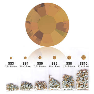 Set cristale decorative 6in1 - Light Colorado Topaz